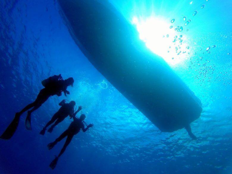 沖縄贅沢セット♪ パラセーリング&青の洞窟ダイビング&絶叫ウォータートイ9