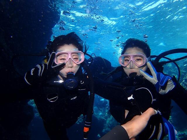 ダイビングの呼吸はゆっくり