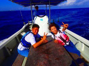 沖縄で釣りをする