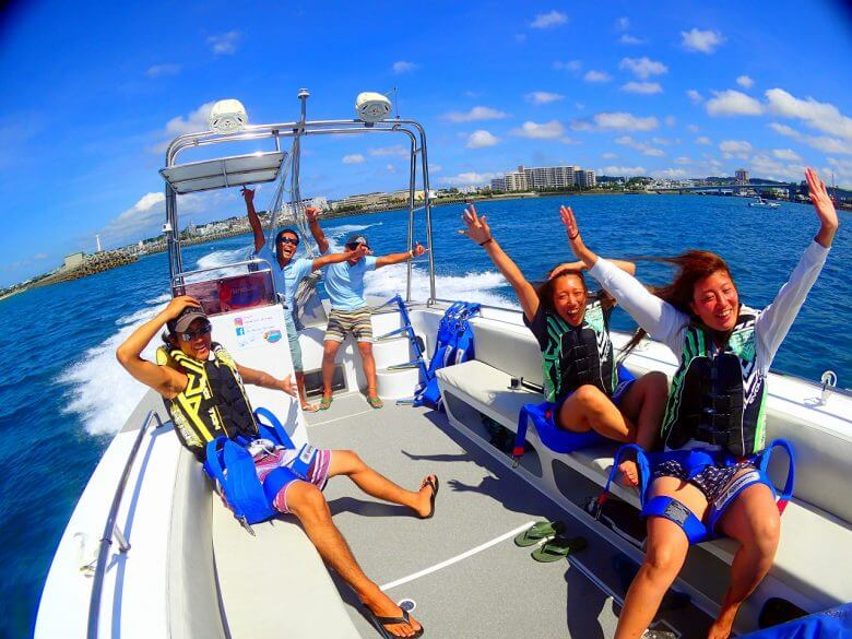 毎日5組限定!青の洞窟ボート体験ダイビング&パラセーリング10