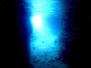 シュノーケリングで見れる水中の青の輝き