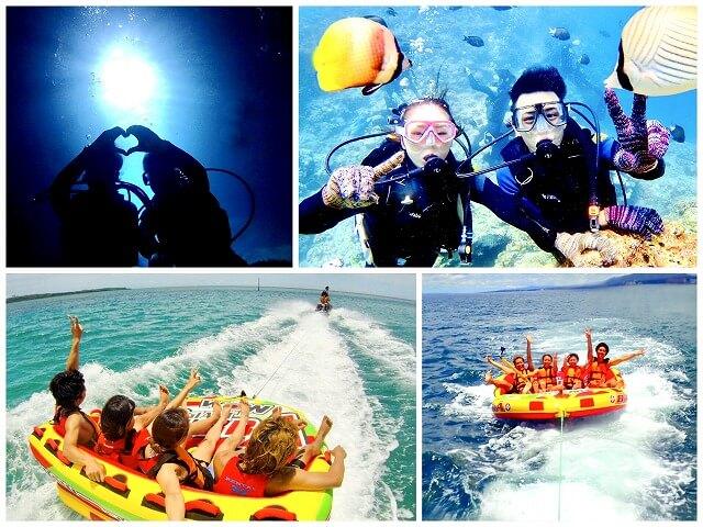 青の洞窟ボート体験ダイビング&絶叫ウォータートイ