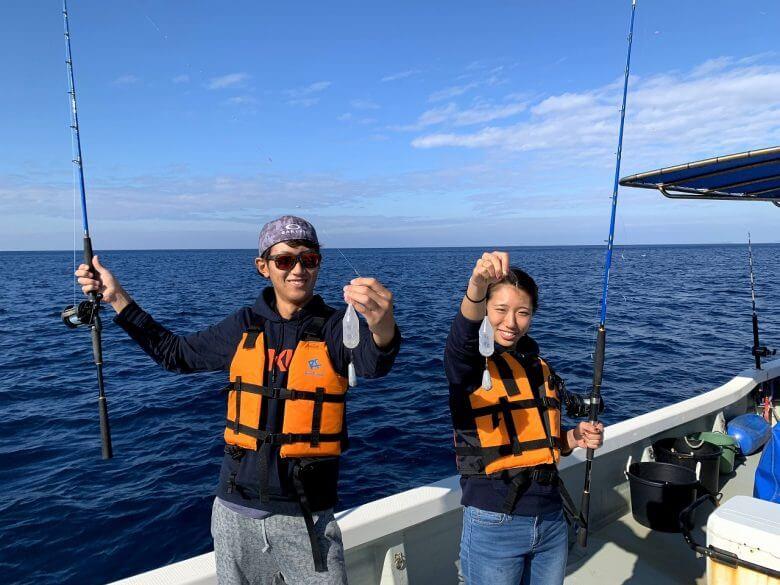 貸し切り船でグルクン釣り&ボートで青の洞窟体験ダイビング11