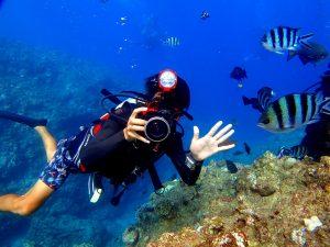 沖縄青の洞窟カメラ撮影-無料特典
