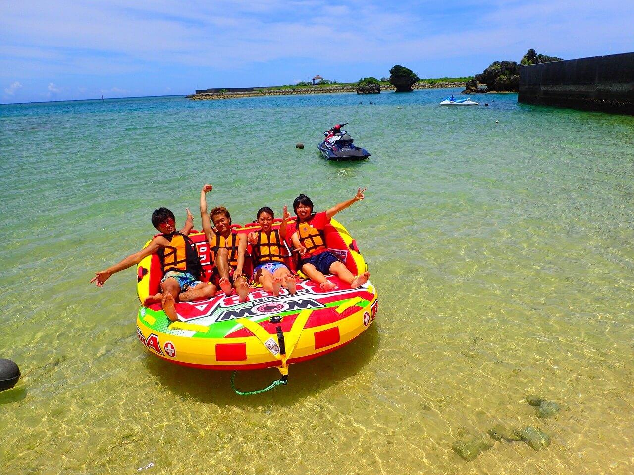 バナナボートの開催するビーチがとても綺麗