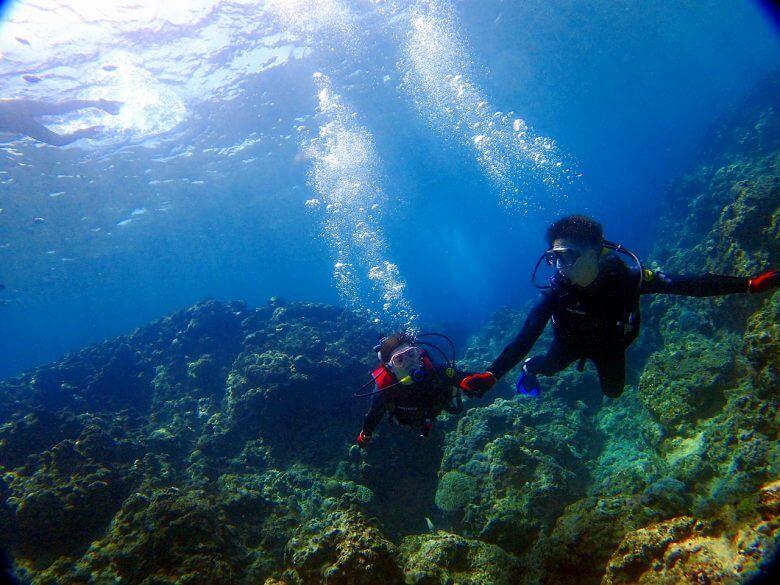体験ダイビング水中写真