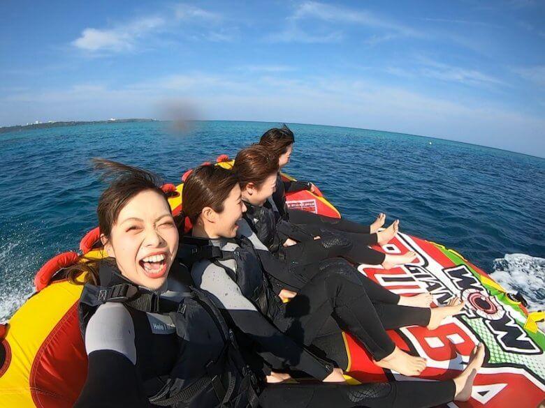 沖縄贅沢セット♪ パラセーリング&青の洞窟シュノーケリング&絶叫ウォータートイ16