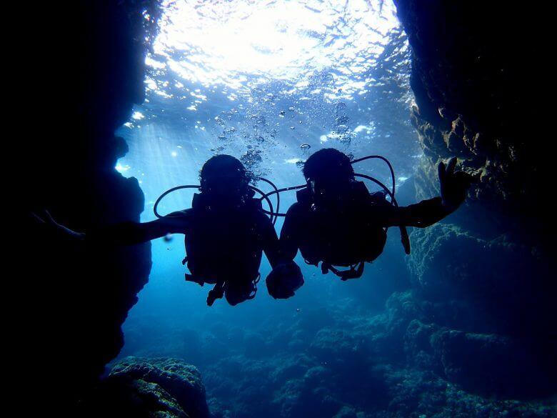 沖縄贅沢セット♪ パラセーリング&青の洞窟ダイビング&絶叫ウォータートイ4