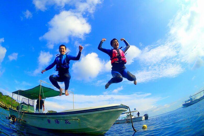 ボート便は海にすぐはいれます!