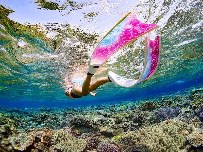 ロングフィンで綺麗な写真が撮れる沖縄アクティビティ