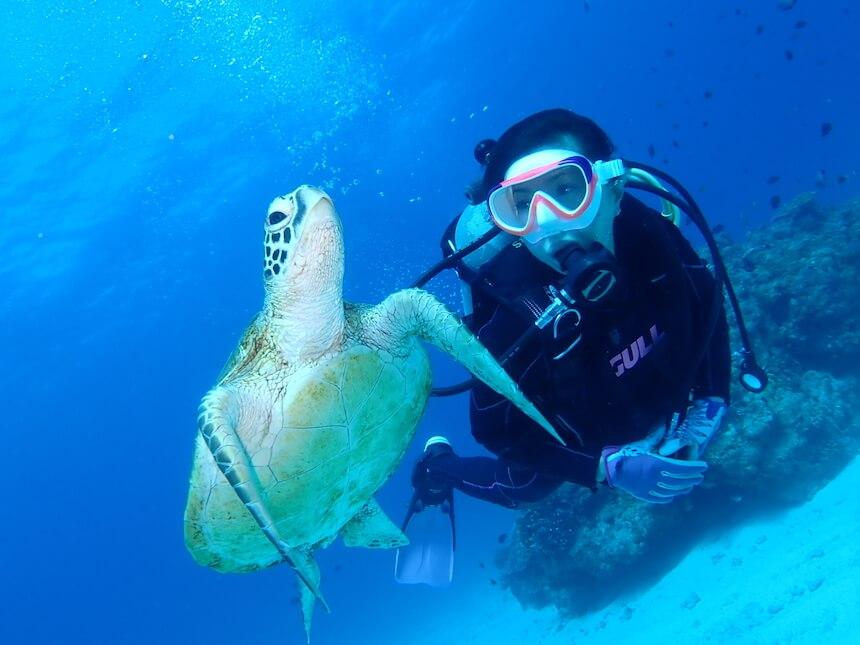 沖縄アクティビティのファンダイングはライセンス所持者専用のツアーです。