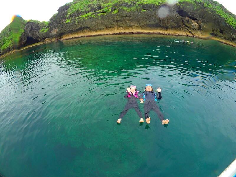 青の洞窟シュノーケリング泳ぎ方のコツ1