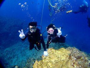 青の洞窟体験ダイビング水中写真