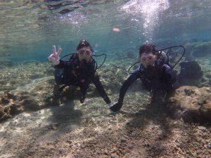 新婚旅行で沖縄 体験ダイビング
